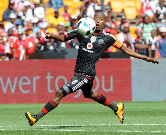 Thabo Matlaba of Orlando Pirates  during the 2016 Nedbank Cup Last 32 match between Orlando Pirates and Kaizer Chiefs on 05 March 2016 at FNB Stadium  Pic Sydney Mahlangu/ BackpagePix