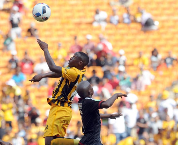 George Maluleka of Kaizer Chiefs challenges Thabo Matlaba of Orlando Pirates  during the 2016 Nedbank Cup Last 32 match between Orlando Pirates and Kaizer Chiefs on 05 March 2016 at FNB Stadium  Pic Sydney Mahlangu/ BackpagePix