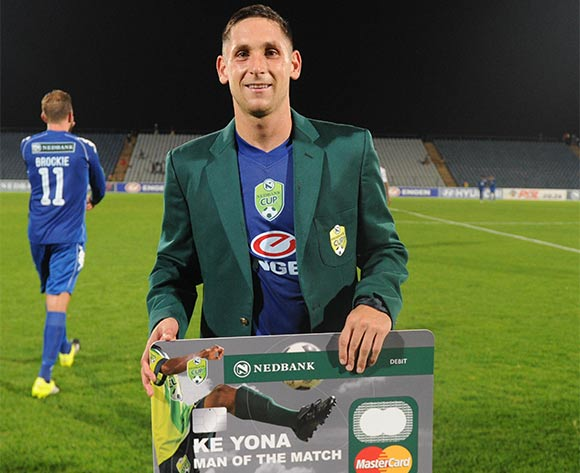 Dean Furman of Supersport United  awarded man of the match during the 2016 Nedbank Cup Last 32 match between Moroka Swallows and Supersport United on 08 March 2016 at Dobsonville Stadium Pic Sydney Mahlangu/ BackpagePix
