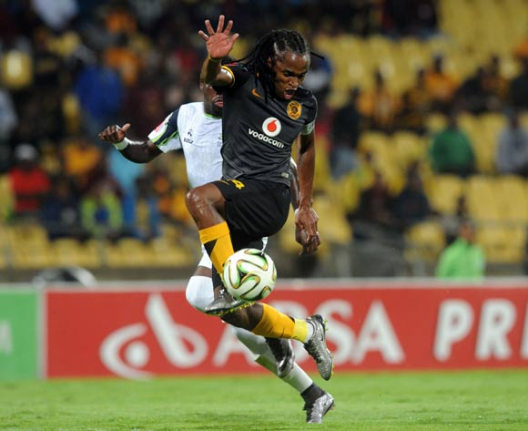 Siphiwe Tshabalala of Kaizer Chiefs is challenged by Siyabonga Zulu of Platinum Stars during the Absa Premiership match between Platinum Stars and Kaizer Chiefs on 09 March 2016 at Royal Bafokeng Stadium Pic Sydney Mahlangu/ BackpagePix