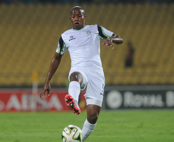 Sibusiso Msomi of Platinum Stars during the Absa Premiership match between Platinum Stars and Kaizer Chiefs on 09 March 2016 at Royal Bafokeng Stadium Pic Sydney Mahlangu/ BackpagePix