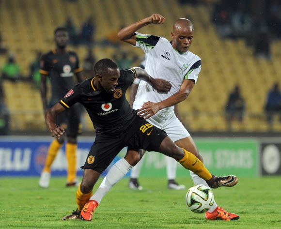 Solomon Mathe of Platinum Stars challenges Bernard Parker of Kaizer Chiefs during the Absa Premiership match between Platinum Stars and Kaizer Chiefs on 09 March 2016 at Royal Bafokeng Stadium Pic Sydney Mahlangu/ BackpagePix