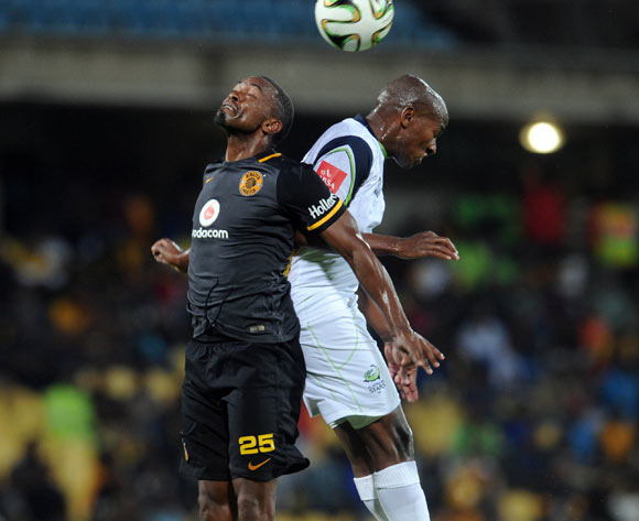 Sibusiso Msomi of Platinum Stars is challenged by Bernard Parker of Kaizer Chiefs during the Absa Premiership match between Platinum Stars and Kaizer Chiefs on 09 March 2016 at Royal Bafokeng Stadium Pic Sydney Mahlangu/ BackpagePix