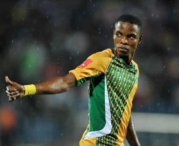 Mahlatsi Makudubela of Golden Arrows during the Absa Premiership 2015/16 match between Maritzburg United and Golden Arrows in Harry Gwala Stadium Pietermaritzburg, Kwa-Zulu Natal on 11 March 2016©Muzi Ntombela/Backpagepix