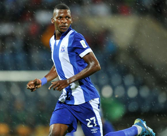 Thamsanqa Mkhize of Maritzburg United during the Absa Premiership 2015/16 match between Maritzburg United and Golden Arrows in Harry Gwala Stadium Pietermaritzburg, Kwa-Zulu Natal on 11 March 2016©Muzi Ntombela/Backpagepix