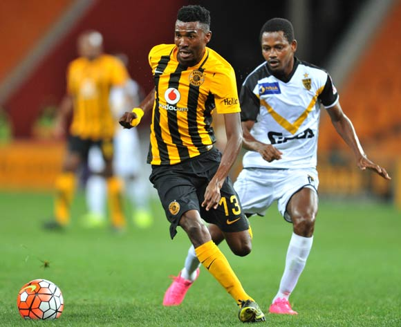 Lucky Baloyi of Kaizer Chiefs challenged by Traore Moussa of Asec Mimosas during the 2016 CAF Champions League football match between Kaizer Chiefs and Asec Mimosas at the FNB Stadium in Johannesburg, South Africa on March 12, 2016 ©Samuel Shivambu/BackpagePix