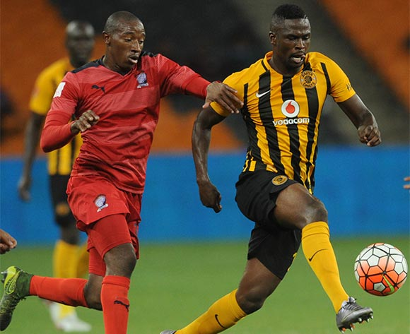 Kgotso Moleko of Kaizer Chiefs is challenged by Sibusiso Khumalo of Jomo Cosmos during the  Premiership match between Kaizer Chiefs and Jomo Cosmos on 15 March 2016 at FNB Stadium Pic Sydney Mahlangu/ BackpagePix