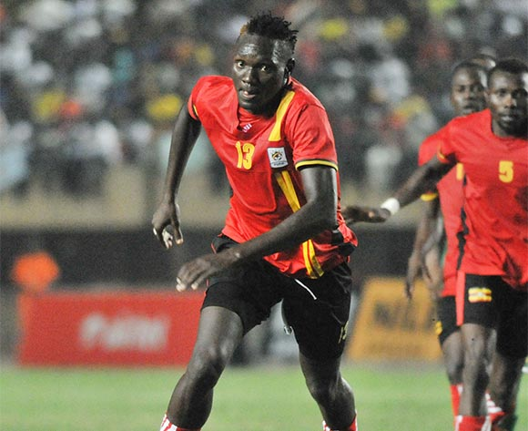 Joseph Ochaya of Uganda Cranes in action during the 2017 Africa Cup of Nations Qualifier match against Burkina Faso on 29 March 2016 at Mandela Stadium, Namboole. ©Ismail Kezaala/BackpagePix