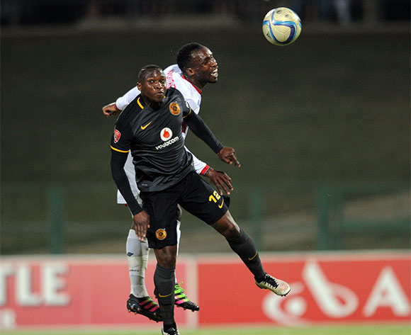 George Maluleka of Kaizer Chiefs challenges Vuyisile Ntombayithethi of University of Pretoria during the Absa Premiership match between University of Pretoria and Kaizer Chiefs  on 27 April 2016 at Tuks Stadium Pic Sydney Mahlangu/ BackpagePix