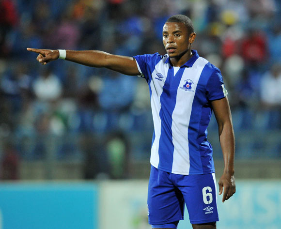 Thamsanqa Teyise of Maritzburg United during the Absa Premiership 2015/16 match between Maritzburg United and Supersport United at Harry Gwala Stadium in Pietermaritzburg, South Africa on April 29, 2016 ©Muzi Ntombela/BackpagePix