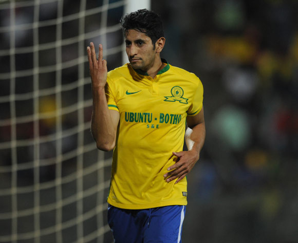 Leonardo Castro of Mamelodi Sundowns celebrates a goal Pic Sydney Mahlangu/ BackpagePix
