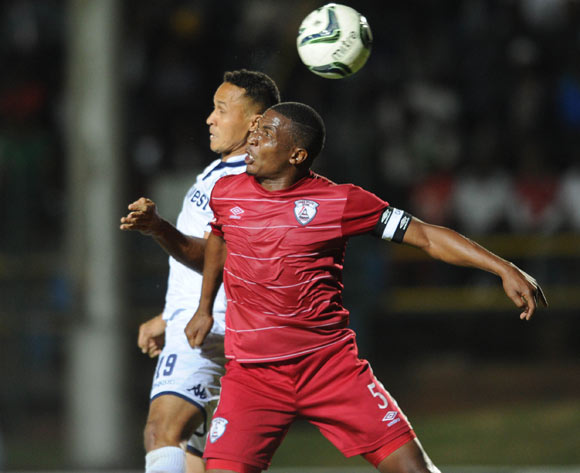 Henrico Botes of Bidvest Wits is challenged by Paulus Masehe of Free State Stars during the Absa Premiership match between Bidvest Wits and Free State Stars on 16 April 2016 at Bidvest Stadium Pic Sydney Mahlangu/ BackpagePix