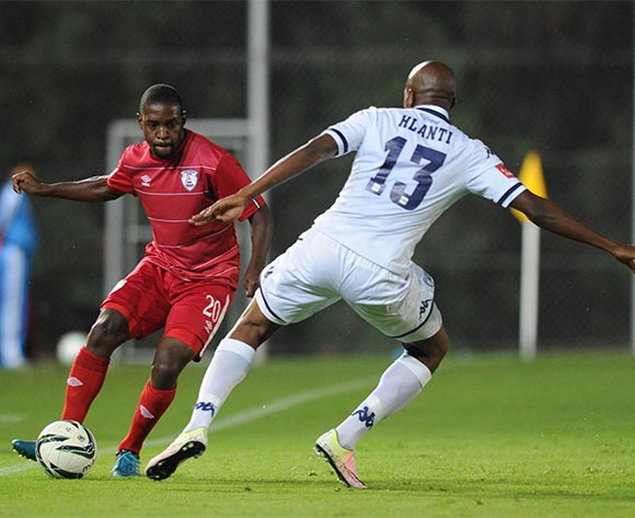 Katlego Mashego of Free State Stars is challenged by Sifiso Nhlanti of Bidvest Wits  during the Absa Premiership match between Bidvest Wits and Free State Stars on 16 April 2016 at Bidvest Stadium Pic Sydney Mahlangu/ BackpagePix