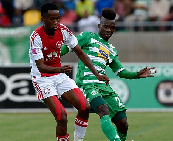 Fiston Abdoul from Bloemfontein Celtic FC during the Absa Premiership match between Bloemfontein Celtic FC and Ajax at Dr Molemela Stadium on 1 May 2016. ©Gerhard Steenkamp/Backpage Media