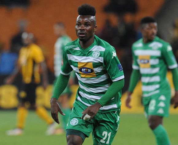 Fiston Abdoul of Bloemfontein Celtic during the Absa Premiership match between Kaizer Chiefs and Bloemfontein Celtic  on 04 May 2016 at FNB Stadium Pic Sydney Mahlangu/ BackpagePix