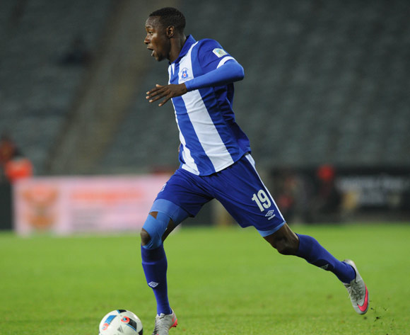 Evans Rusike of Maritzburg United during the Absa Premiership match between Orlando Pirates and Maritzburg United on 07 May 2016 at Orlando Stadium Pic Sydney Mahlangu/ BackpagePix