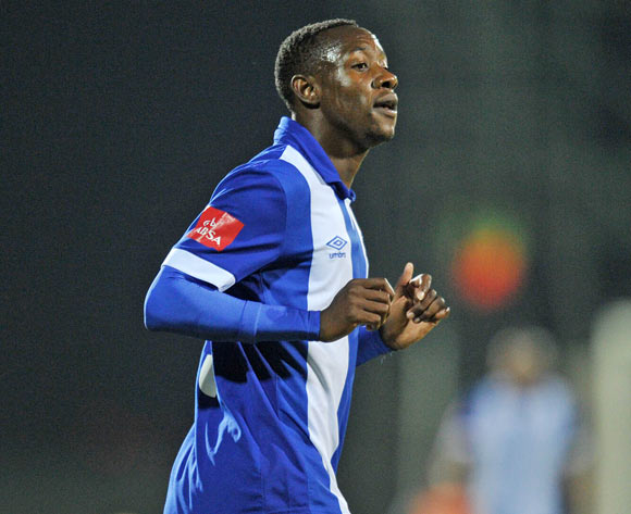 Evans Rusike of Maritzburg United during the Absa Premiership 2015/16  match between Maritzburg United and Ajax Cape Town at Harry Gwala Stadium, Pietermaritzburg in Kwa-Zulu Natal South Africa on 11 May, 2016 ©Muzi Ntombela/BackpagePix