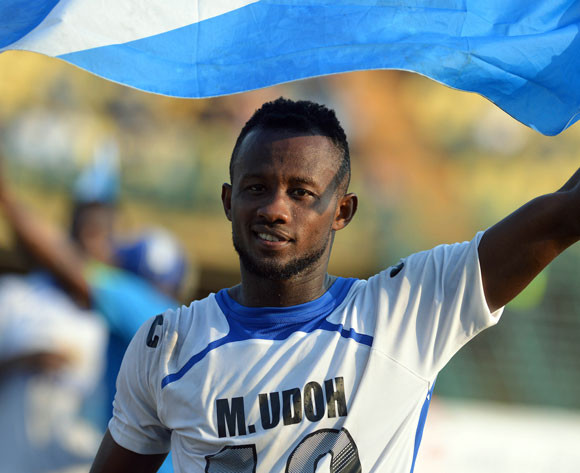 Enyimba hotshot Mfon Udoh eyes all three points at Sundowns