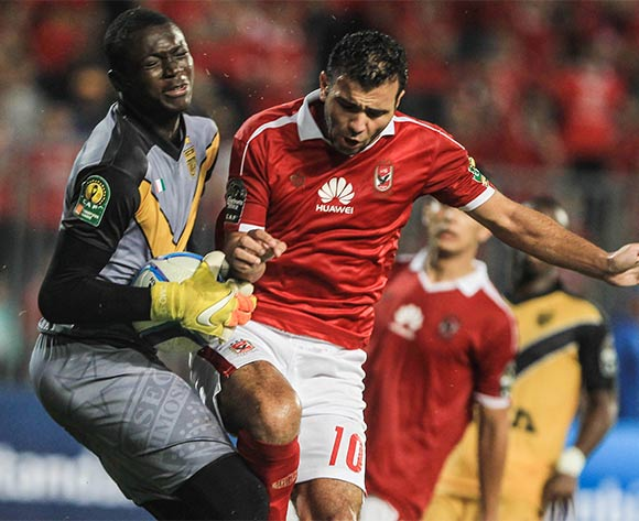 Ahly's Emmad Meteb (R) in action