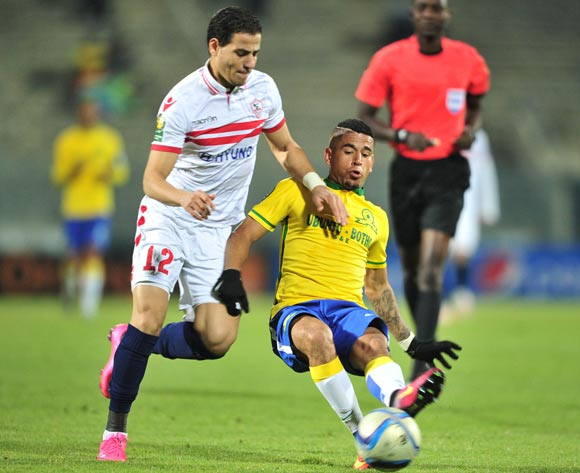 Mamelodi Sundowns vs Zamalek @ the Lucas Moripe Stadium in Atteridgeville.