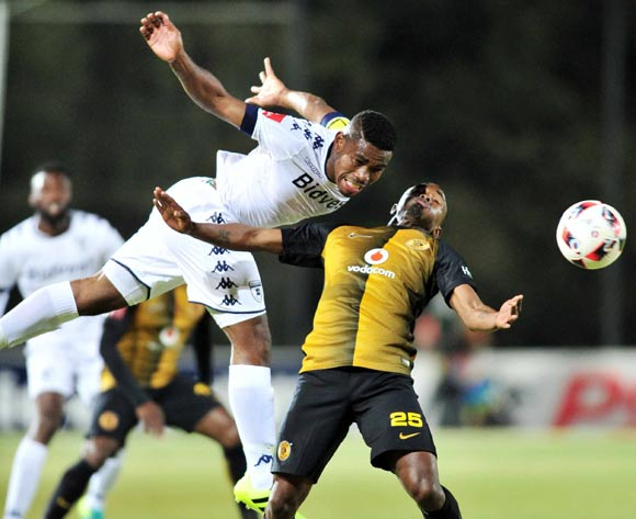 Bernard Parker of Kaizer Chiefs challenged by Thulani Hlatshwayo of Bidvest Wits during the Absa Premiership match between Bidvest Wits v Kaizer Chiefs at the Bidvest Stadium in Johannesburg, South Africa on August 23, 2016 ©Samuel Shivambu/BackpagePix