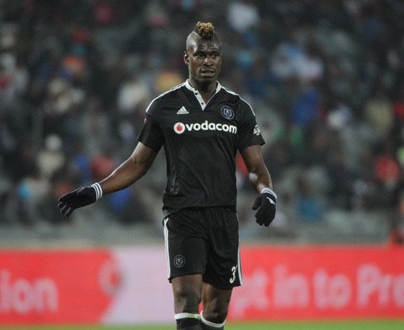 Edwin Gyimah of Orlando Pirates during the Absa Premiership match between Orlando Pirates and Golden Arrows  23 August 2016 at Orlando Stadium Pic Sydney Mahlangu/ BackpagePix