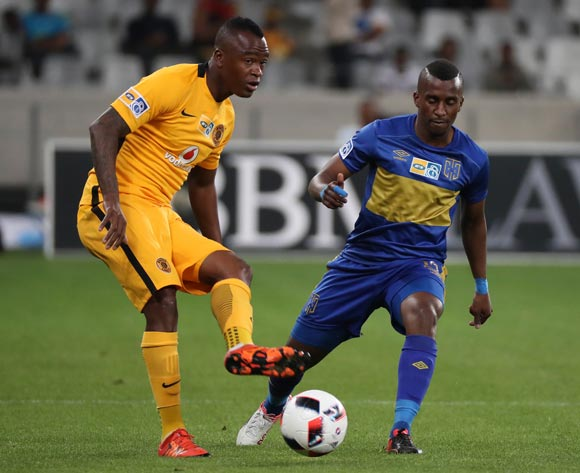Tsepo Masilela of Kaizer Chiefs evades challenge from Bhongolethu Jayiya of Cape Town City FC during the 2016/17 MTN8 Quarter Final football match between Cape Town City FC and Kaizer Chiefs at Cape Town Stadium, Cape Town on 26 August 2016 ©Chris Ricco/BackpagePix