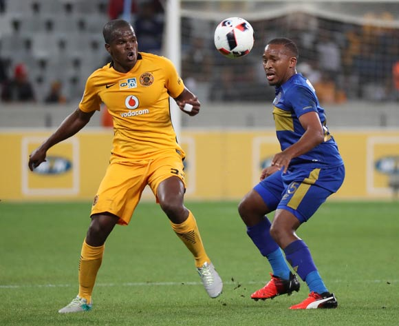 Lehlohonolo Majoro of Cape Town City FC battles for the ball with Willard Katsande of Kaizer Chiefs (l) battles for the ball with during the 2016/17 MTN8 Quarter Final football match between Cape Town City FC and Kaizer Chiefs at Cape Town Stadium, Cape Town on 26 August 2016 ©Chris Ricco/BackpagePix
