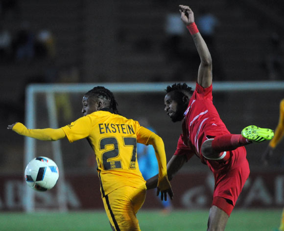 Hendrick Ekstein of Kaizer Chiefs is challenged by Nhlanhla Vilakazi of Free State Stars   during the Absa Premiership match between Free State Stars and Kaizer Chiefs on the  28 September 2016 at James Motlatsi  Stadium  Pic Sydney Mahlangu/ BackpagePix