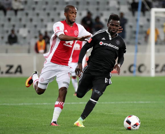 Bernard Morrison of Orlando Pirates evades challenge from Mosa Lebusa of Ajax Cape Town during the Absa Premiership 2016/17 football match between Ajax Cape Town and Orlando Pirates at Cape Town Stadium, Cape Town on 13 September 2016 ©Chris Ricco/BackpagePix