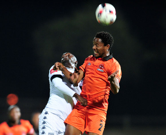 Thabiso Semenya of Polokwane City challenged by Cuthbert Malajila of Bidvest Wits during the Absa Premiership match between Polokwane City and Bidvest Wits at the Old Peter Mokaba Stadium in Polokwane, South Africa on September 13, 2016 ©Samuel Shivambu/BackpagePix