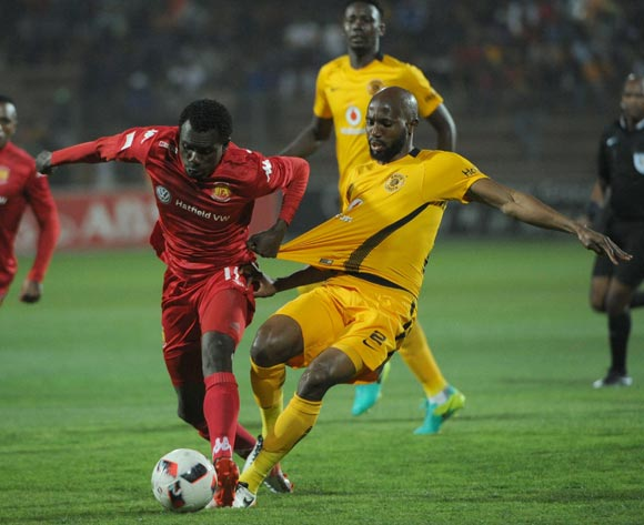 Ramahlwe Mphahlele of Kaizer Chiefs challenges Charlton Mashumba of Highlands Park during the Absa Premiership match between Highlands Park and Kaizer Chiefs on the 21 September 2016 at Makhulong Stadium  Pic Sydney Mahlangu/ BackpagePix