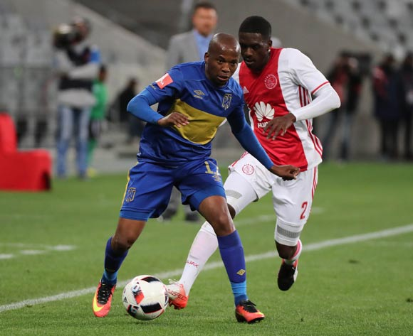 Aubrey Ngoma of Cape Town City FC gets away from Abel Mabaso of Ajax Cape Town during the Absa Premiership 2016/17 football match between Cape Town City FC and Ajax Cape Town at Cape Town Stadium, Cape Town on 23 September 2016 ©Chris Ricco/BackpagePix