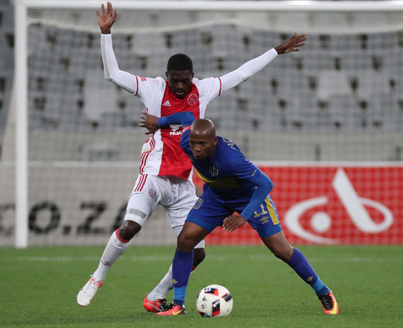 Aubrey Ngoma of Cape Town City FC evades challenge from Abel Mabaso of Ajax Cape Town during the Absa Premiership 2016/17 football match between Cape Town City FC and Ajax Cape Town at Cape Town Stadium, Cape Town on 23 September 2016 ©Chris Ricco/BackpagePix
