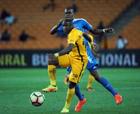 Blessing Moyo of Maritzburg United challenges George Maluleka of Kaizer Chiefs during the Absa Premiership match between Kaizer Chiefs and Maritzburg United on the  24 September 2016 at FNB Stadium Pic Sydney Mahlangu/ BackpagePix