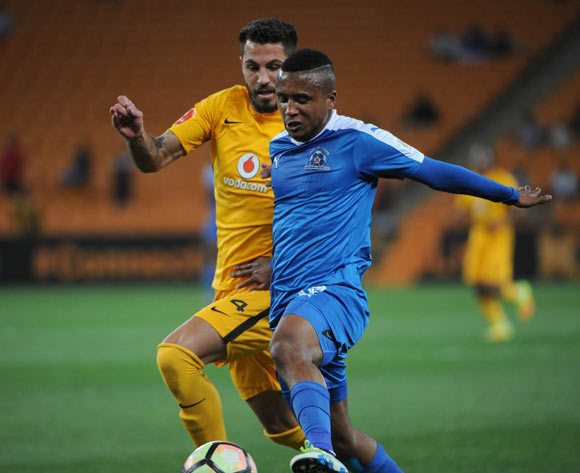Daniel Cardoso of Kaizer Chiefs challenges Sheldon Van Wyk of Maritzburg United  during the Absa Premiership match between Kaizer Chiefs and Maritzburg United on the  24 September 2016 at FNB Stadium Pic Sydney Mahlangu/ BackpagePix