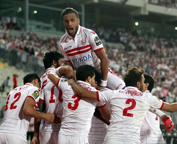 Zamalek players celebrate