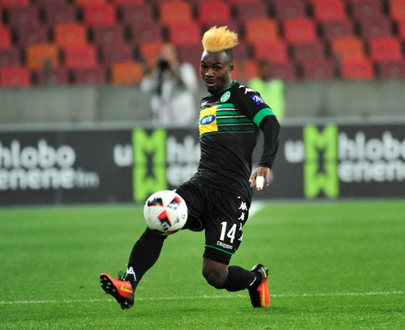 Fiston Abdoul of Bloemfontein Celtic during the Absa Premiership 2016/17 match between Chippa United and Bloemfontein Celtic at Nelson Mandela Bay Stadium, Port Elizabeth South Africa on 25 October 2016 ©Deryck Foster/BackpagePix