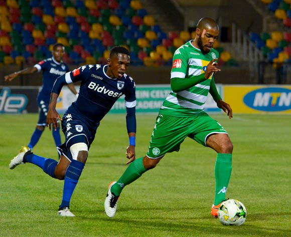 Wandisile Letlabika of Bloemfontein Celtic and Thabang Monare of Bidvest Wits during the Absa Premiership match between Bloemfontein Celtic and Bidvest Wits on 29 October 2016 at Dr Molemela Stadium, Bloemfontein ©Frikkie Kapp /BackpagePix