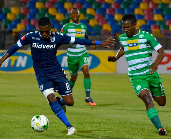 Thabang Monare of Bidvest Wits and Khethokwakhe Masuku of Bloemfontein Celtic during the Absa Premiership match between Bloemfontein Celtic and Bidvest Wits on 29 October 2016 at Dr Molemela Stadium, Bloemfontein ©Frikkie Kapp /BackpagePix