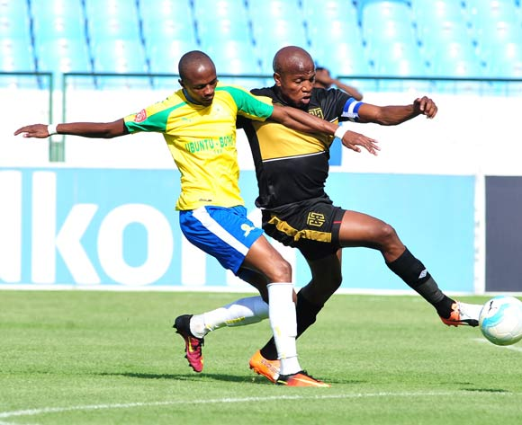 Lebohang Manyama of Cape Town City challenged by Tebogo Langerman of Mamelodi Sundowns during the Absa Premiership match between Mamelodi Sundowns and Cape Town City at Loftus Stadium, Pretoria on 30 October 2016 © Samuel Shivambu/BackpagePix