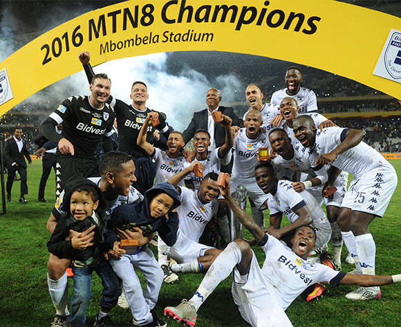 Bidvest Wits celebrates  during the MTN8 Final match between Mamelodi Sundowns and Bidvest Wits on the  01 October 2016 at Mbombela Stadium  Pic Sydney Mahlangu/ BackpagePix