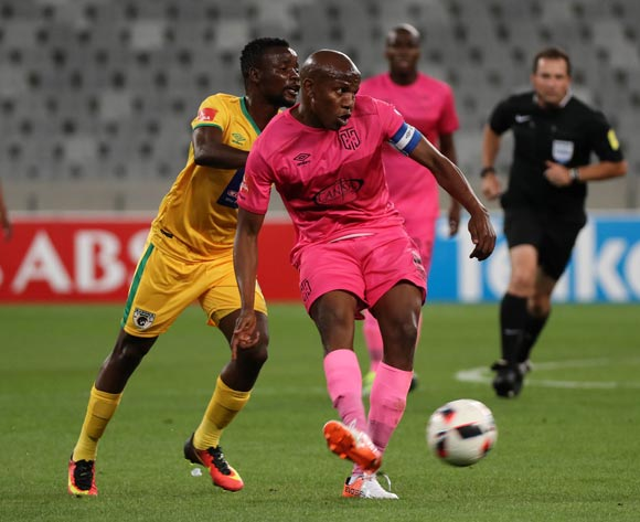Lebogang Manyama of Cape Town City FC gets away from Mndeni Zikalala of Baroka FC during the Absa Premiership 2016/17 football match between Cape Town City FC and Baroka FC at Cape Town Stadium, Cape Town on 15 October 2016 ©Chris Ricco/BackpagePix