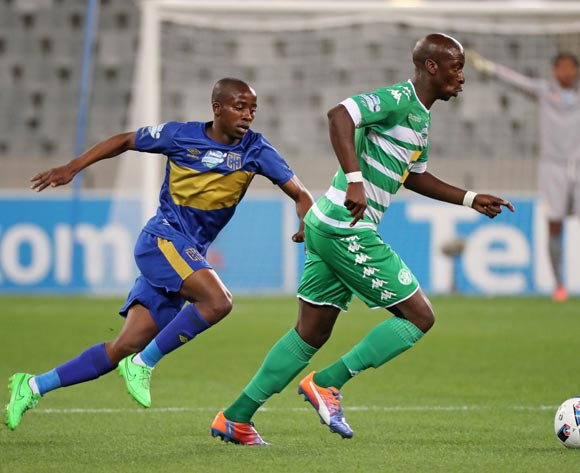 Musa Nyatama of Bloemfontein Celtic gets away from Thabo Nodada of Cape Town City FC during the 2016 Telkom Knockout Last 16 football match between Cape Town City FC and Bloemfontein Celtic at Cape Town Stadium, Cape Town on 19 October 2016  ©Chris Ricco/BackpagePix