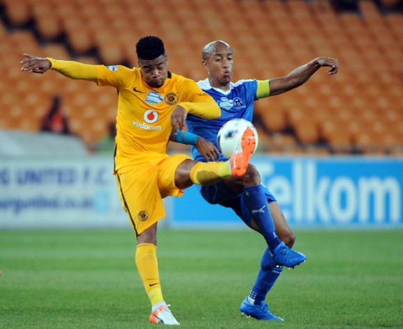 Kurt Lentjies of Maritzburg United is challenged by George Lebese of Kaizer Chiefs during the International Womens Friendly match between South Africa and Egypt  on the  22 October 2016 at FNB Stadium Pic Sydney Mahlangu/ BackpagePix