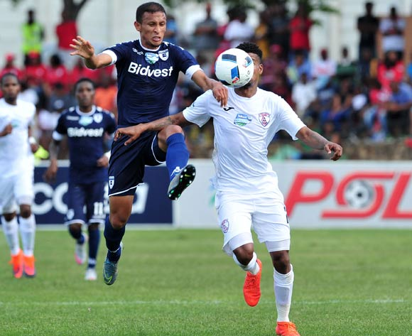 Nazeer Allie of Bidvest Wits challenged by Bokang Tlhone of Free State Stars during the Telkom Knockout Last 16 match between Free State Stars and Bidvest Wits at the Goble Park Stadium in Free State on the 22 October 2016©Samuel Shivambu/Backpagepix