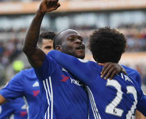 Man of the Match Victor Moses lifts Chelsea top of Premier League after derby win