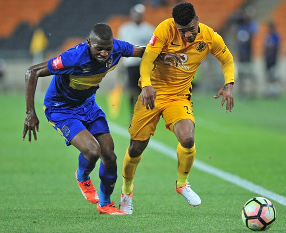 George Lebese of Kaizer Chiefs takes on Thamsanqa Mkhize of Cape Town City during the Absa Premiership 2016/17 game between Kaizer Chiefs and Cape Town City at FNB Stadium, Johannesburg on 29 November 2016 © Ryan Wilkisky/BackpagePix