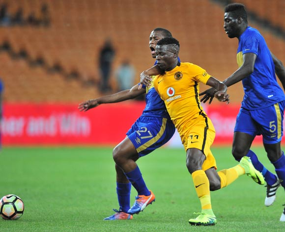 Tshepo Gumede of Cape Town City is challenged by Edmore Chirambadare of Kaizer Chiefs during the Absa Premiership 2016/17 game between Kaizer Chiefs and Cape Town City at FNB Stadium, Johannesburg on 29 November 2016 © Ryan Wilkisky/BackpagePix