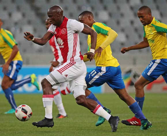 Mark Mayambela of Ajax Cape Town gets away from Sibusiso Vilakazi of Mamelodi Sundowns during the Absa Premiership 2016/17 football match between Ajax Cape Town and Mamelodi Sundowns at Cape Town Stadium, Cape Town on 30 November 2016 ©Chris Ricco/BackpagePix